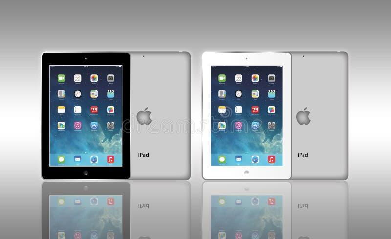 Jabłczany iPad powietrze ilustracja wektor