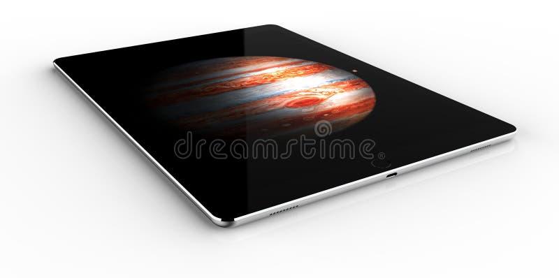 Jabłczany iPad Pro ilustracji