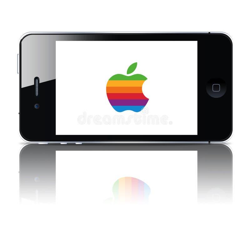 jabłczany iphone ilustracja wektor