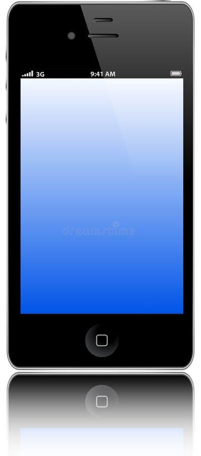 Jabłczany Iphone 4s ilustracji