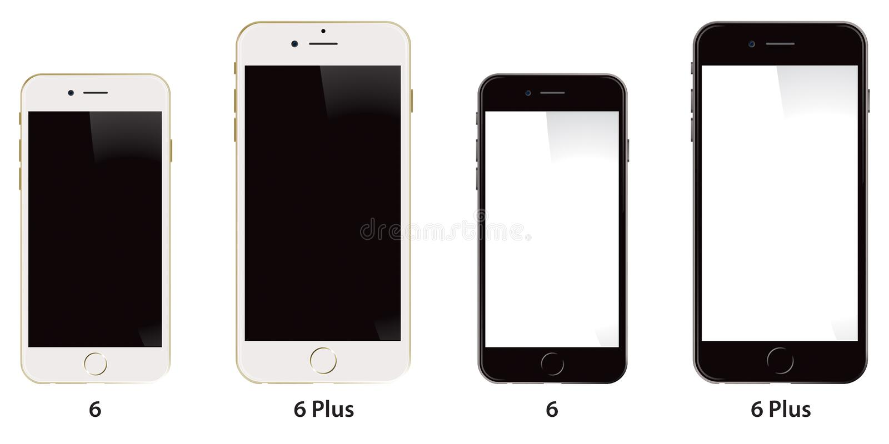 Jabłczany iPhone 6 Plus royalty ilustracja