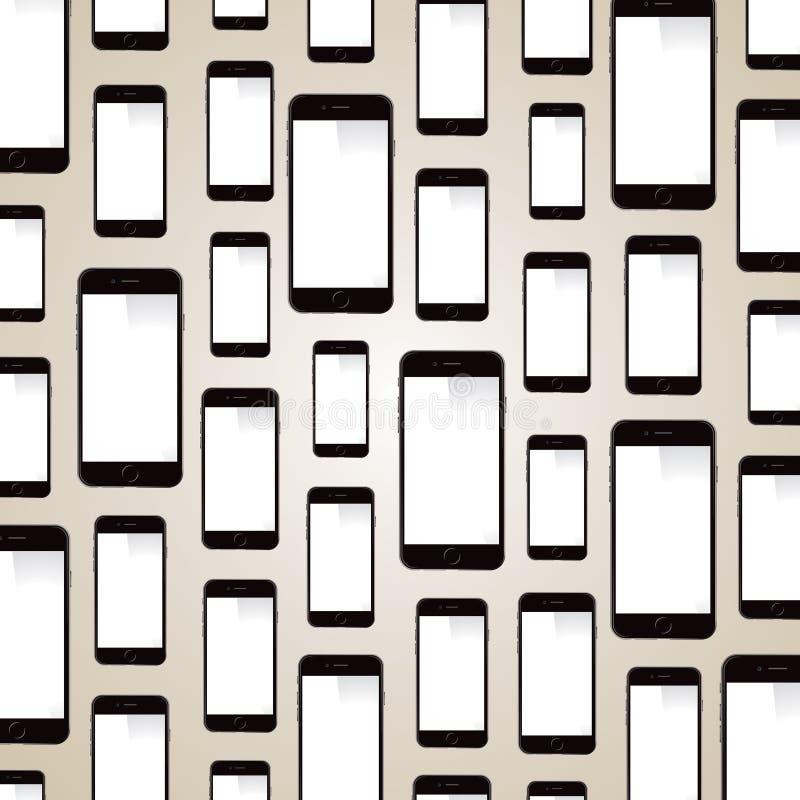 Jabłczany iPhone tło ilustracja wektor