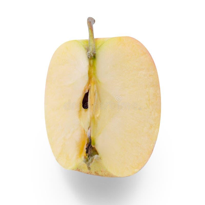 Jabłczany kawałek na białym tła odosobnieniu obraz royalty free