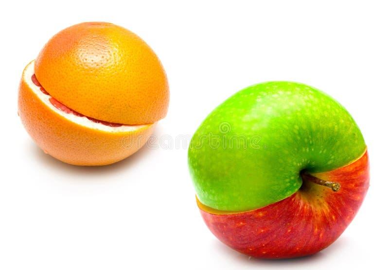 jabłczany kreatywnie grapefruit zdjęcia stock