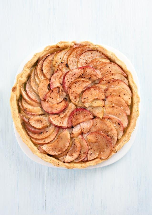 Jabłczany kulebiak, odgórny widok zdjęcia royalty free