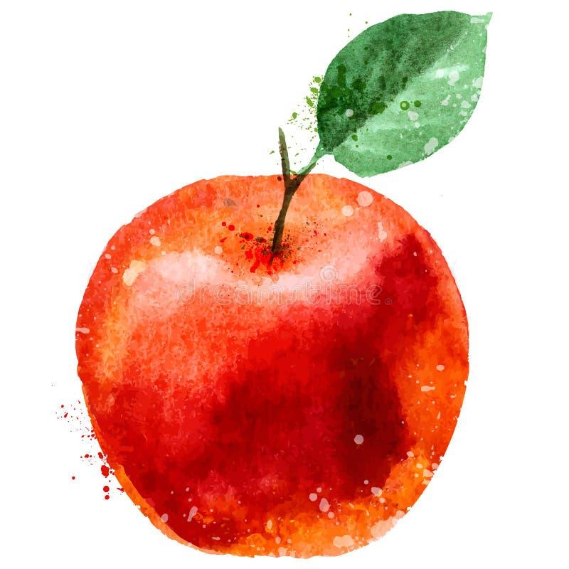 Jabłczany loga projekta szablon owocowa lub karmowa ikona royalty ilustracja