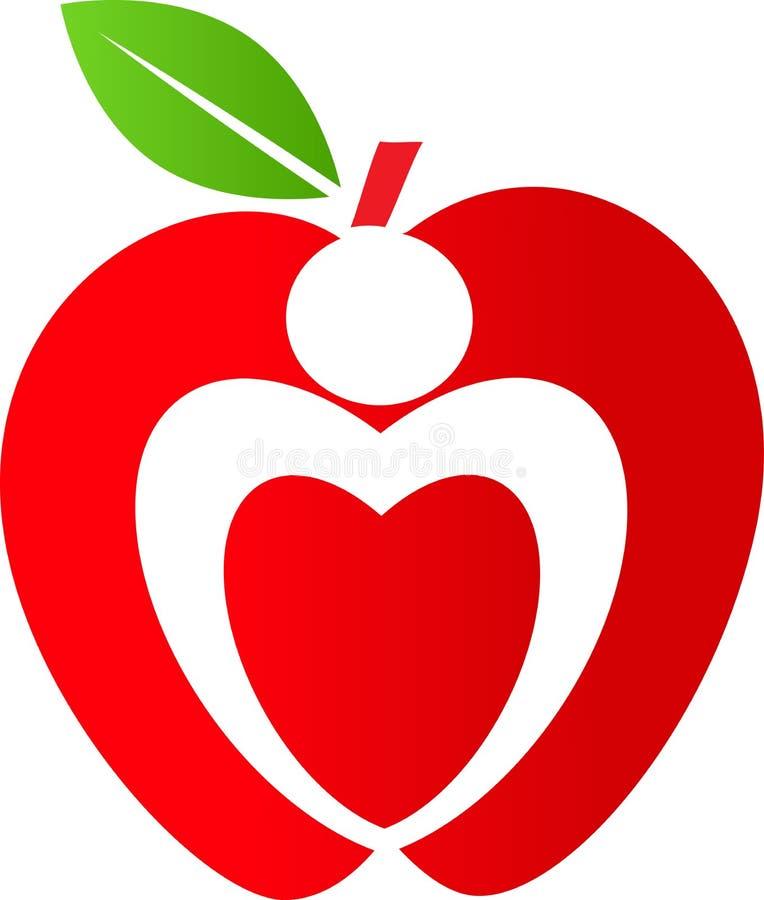 Jabłczany logo ilustracja wektor