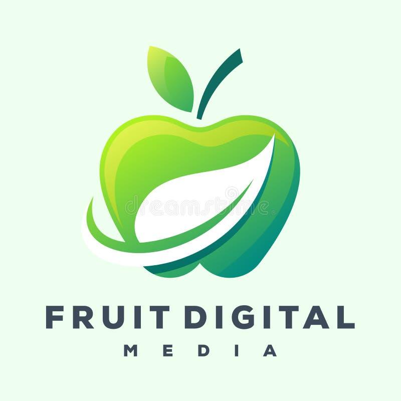 Jabłczany logo projekt gotowy używać ilustracja wektor