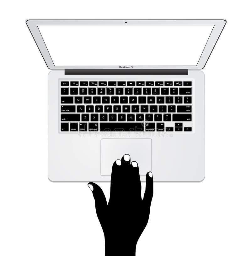 Jabłczany MacBook powietrze ilustracji