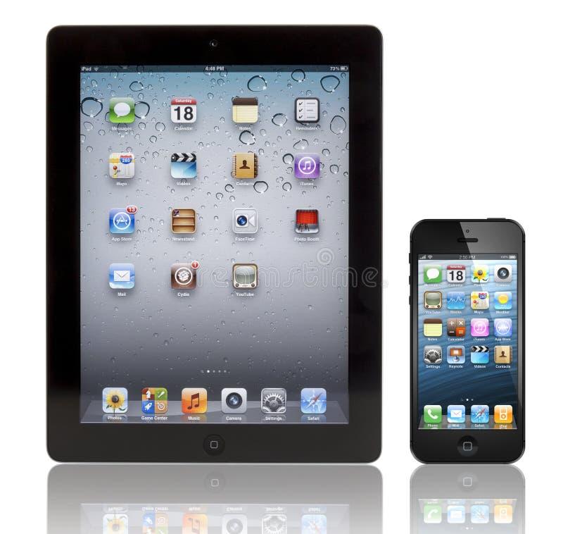 Jabłczany Nowy iPad i iPhone 3 5 fotografia stock