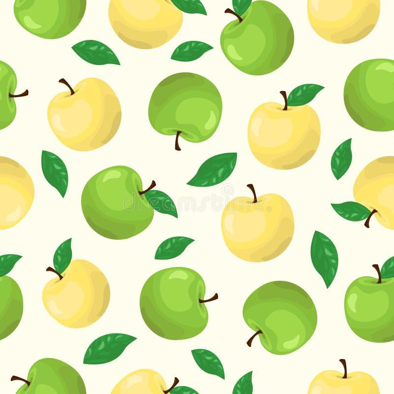 jabłczany owocowy bezszwowy wzór ilustracja wektor