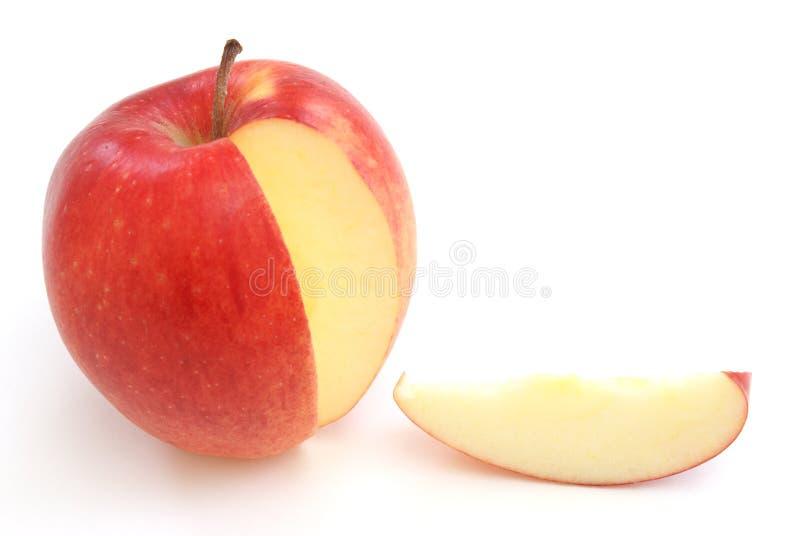 jabłczany plasterek zdjęcia stock