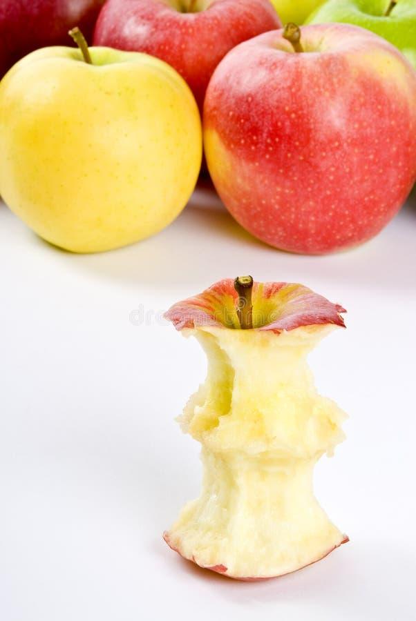 jabłczany sedno obrazy royalty free