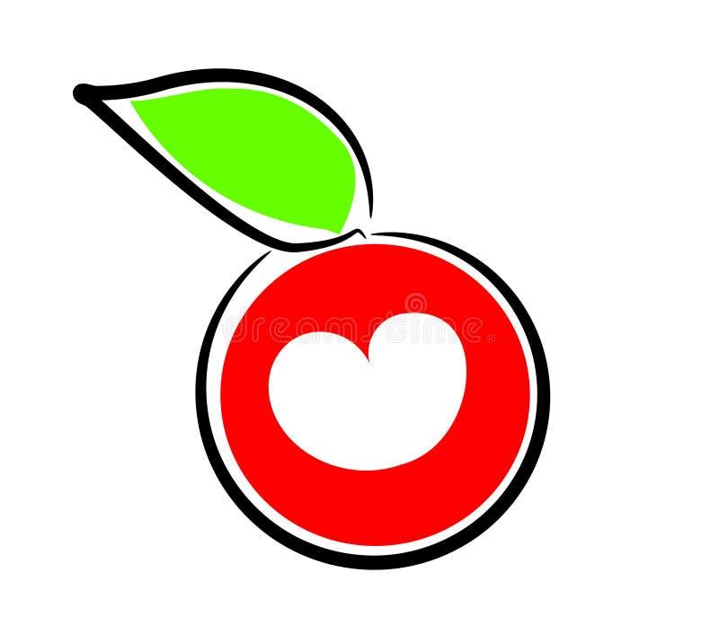 jabłczany serce ilustracji