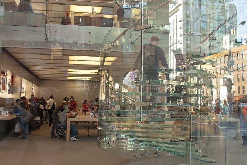 Jabłczany sklep w Nowy Jork mieście obraz stock