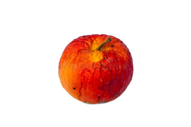 jabłczany stary czerwony przegniły fotografia royalty free