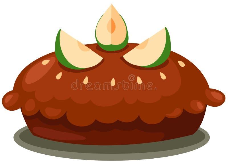 jabłczany tort ilustracji