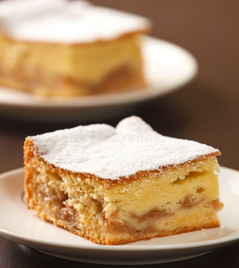 Jabłczany tort obrazy royalty free