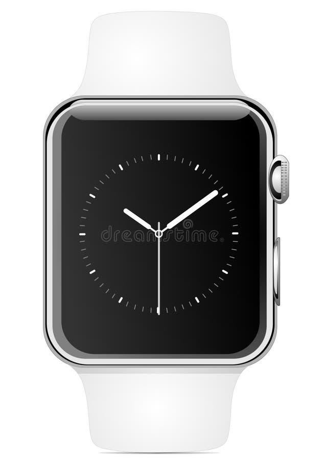 Jabłczany zegarek ilustracja wektor
