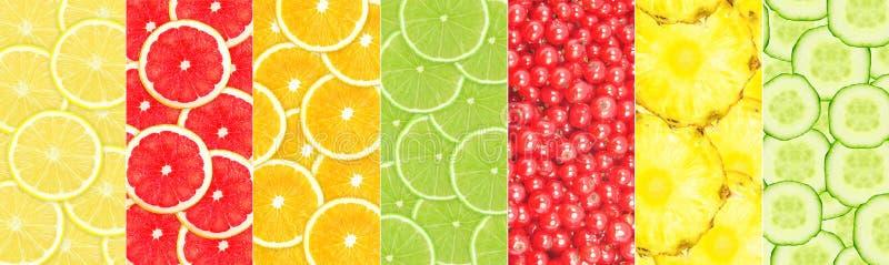 jabłek kolażu owoc pomarańcze czerwone fotografia royalty free