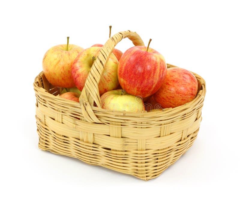 jabłek kosza pełna galówka obrazy royalty free