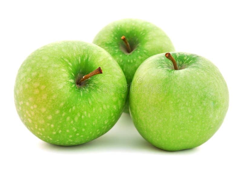 jabłek tła zieleni biel zdjęcia stock