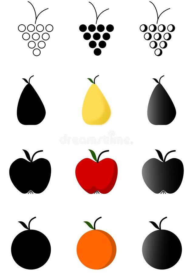 jabłek winogron pomarańcz bonkrety zdjęcie stock