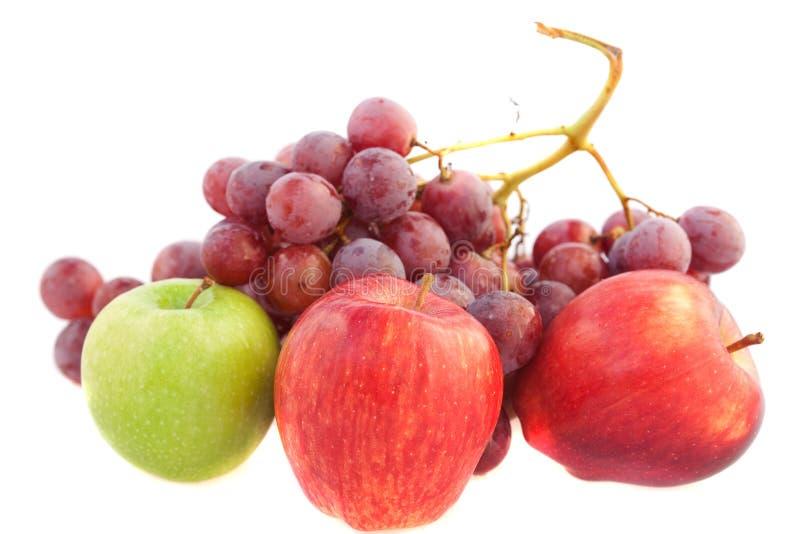 jabłek winogrona zdjęcia royalty free