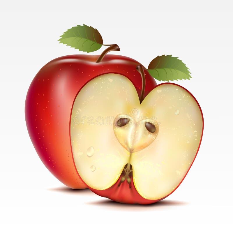 jabłka royalty ilustracja