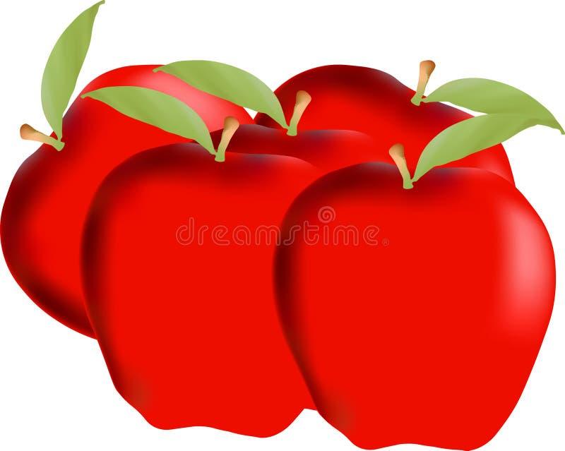 jabłka ilustracja wektor