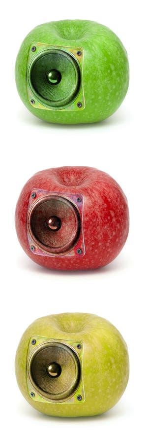jabłka audio obrazy stock