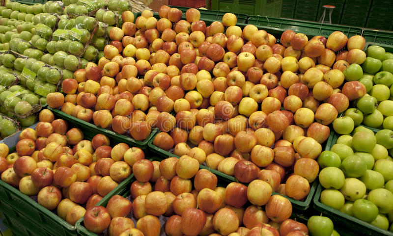 jabłka centrum handlowe obrazy stock