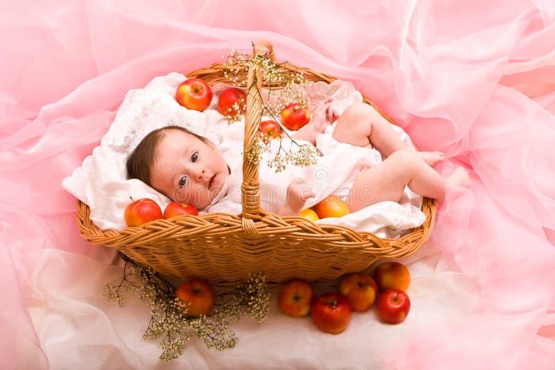 jabłka dziecko fotografia royalty free