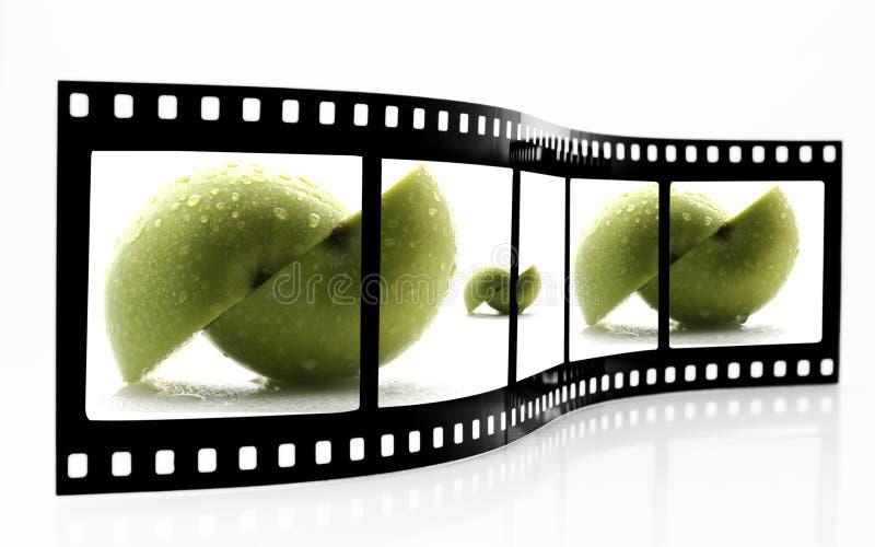 jabłka filmu pasek obraz stock