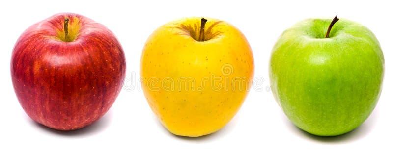 jabłka kolor żółty świeży zielony czerwony obrazy royalty free