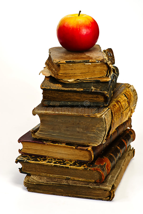 jabłka książkowy historyczny stary obrazy stock