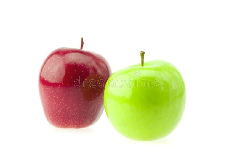 jabłka odizolowywali biel obraz stock