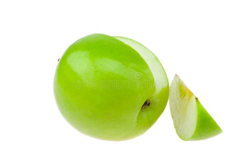 jabłka odizolowywali biel zdjęcia stock