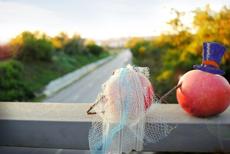 Jabłka, owoc, ślub, zdrowy styl życia fotografia stock