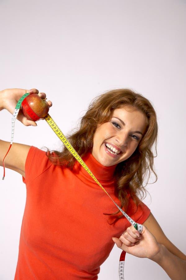 jabłka pomiaru zdjęcia stock
