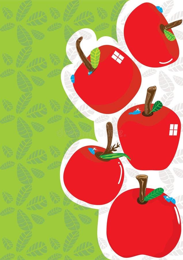 jabłka tło eps ilustracji