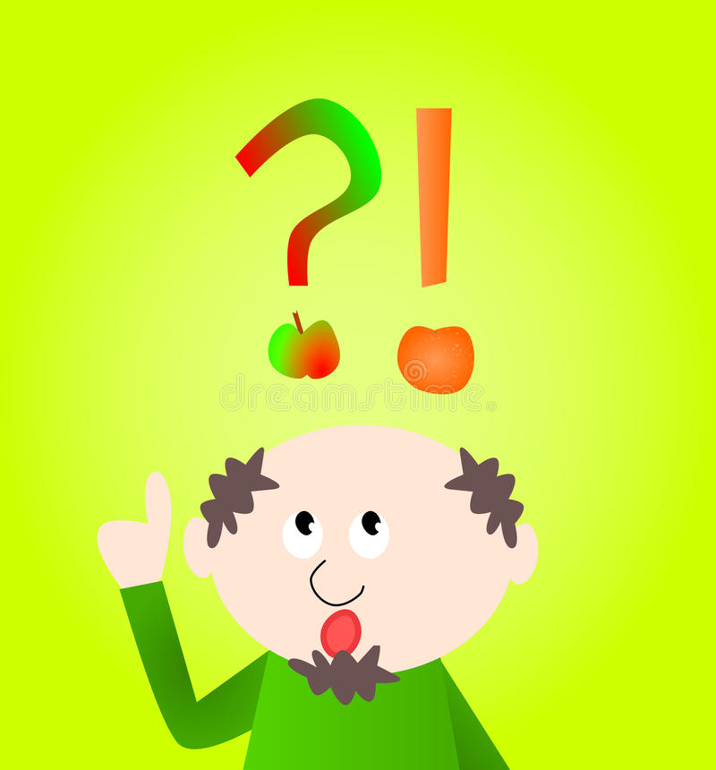 jabłka w porównaniu z pomarańczy ilustracja wektor