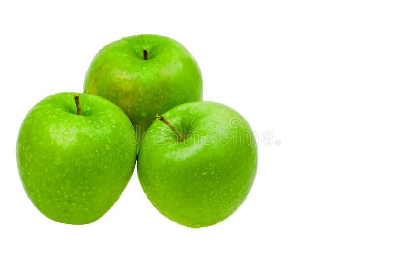 jabłka zamykają kropli wodę świeżą obraz stock