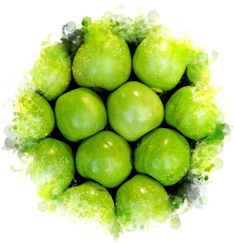 jabłka zielenieją ilustrację zdjęcia stock