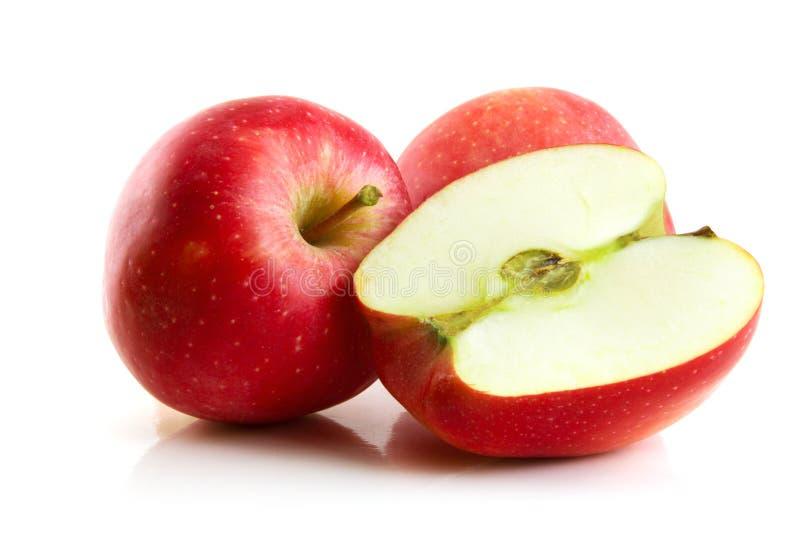 jabłko biel odosobniony czerwony zdjęcie stock