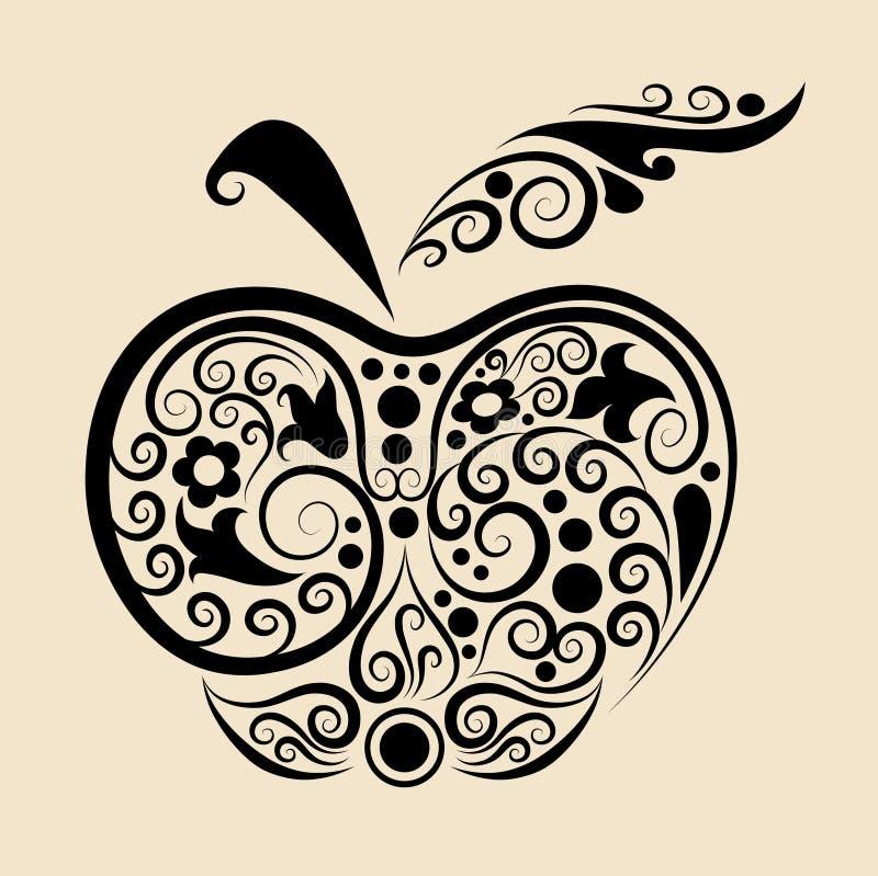 jabłko dekoracyjny ilustracji