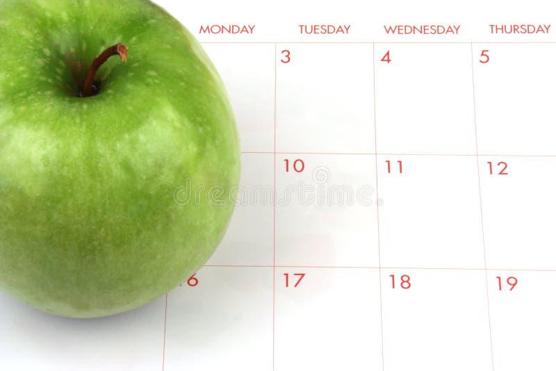jabłko dziennie fotografia royalty free