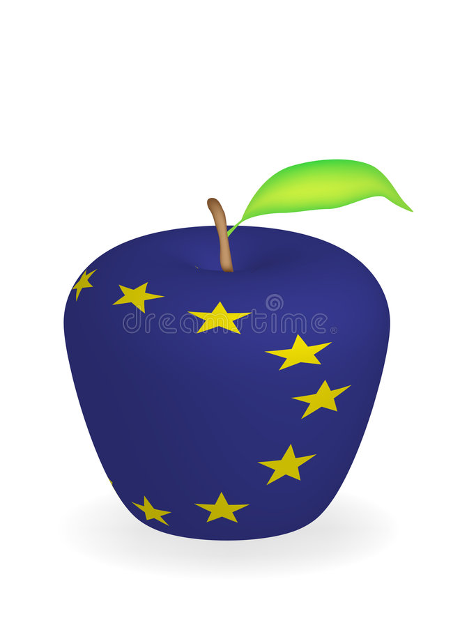jabłko flagę royalty ilustracja