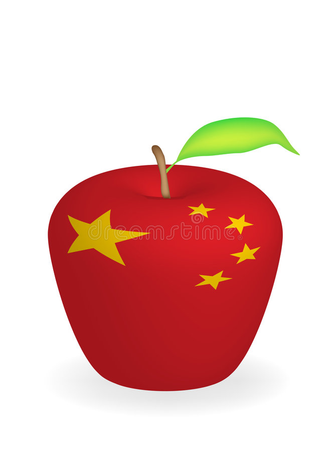 jabłko flagę ilustracji
