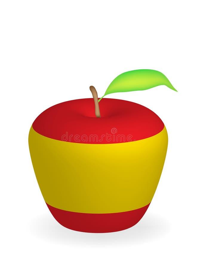 jabłko flagę ilustracja wektor